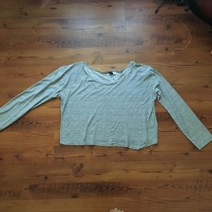 Body long sleeve crop top